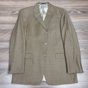 Daniel Cremieux Tan & Brown Houndstooth Blazer 44L